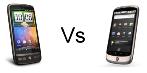 Desire vs Nexus One